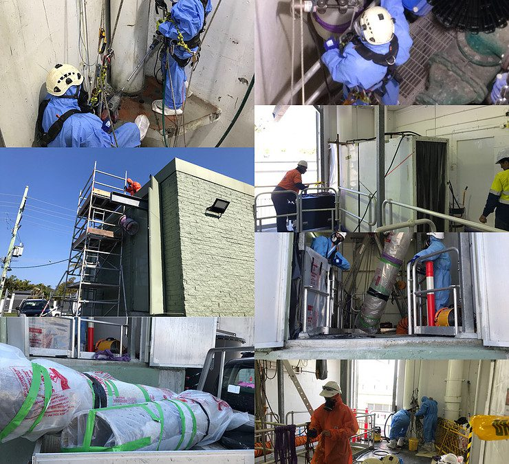 Asbestos Pipe Removal 14 Meters Down a Sewer Well